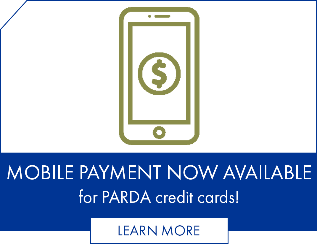 Mobile payment now available for PARDA credit cards!